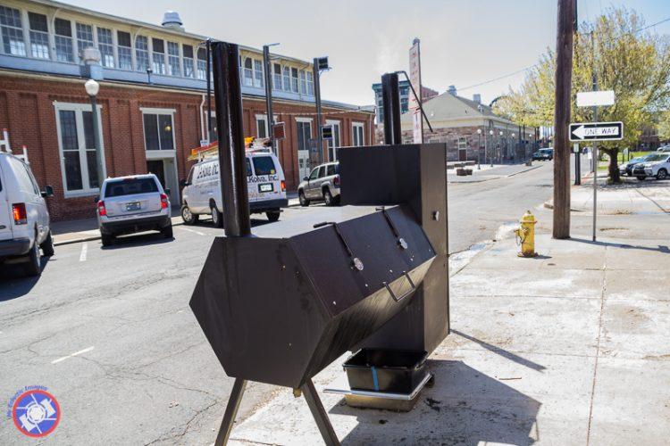 Smoker outside the Millworks in Harrisburg, PA