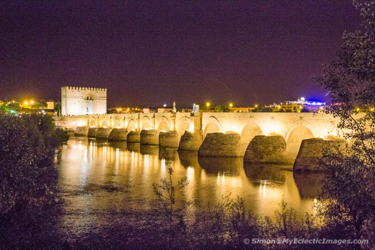 The Roman Bridge and Tower in Cordoba