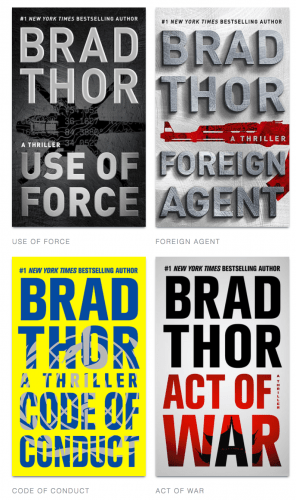 Book Jackets for Some of the Scot Harvath Series (derived from Brad Thor's website)