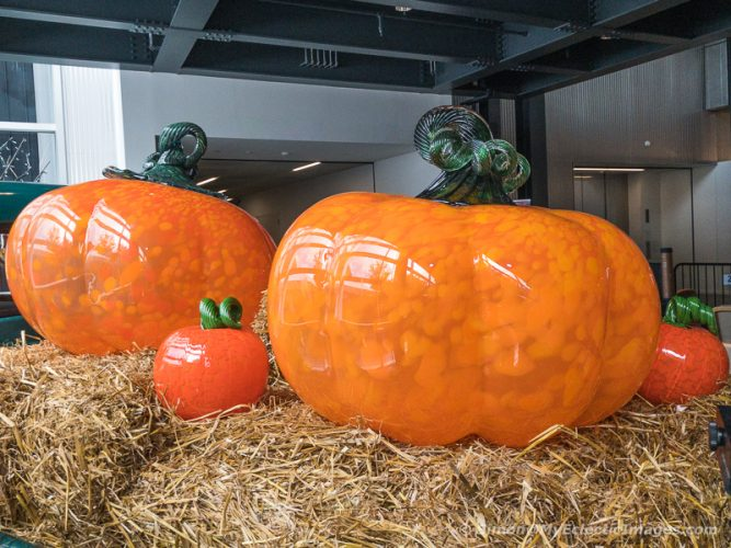 Blown Glass Pumpkins at the Corning Museum of Glass (©simon@myeclecticimages.com)