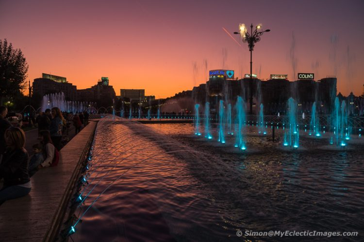 Fountains Installed in Piata Unirii, Bucharest, After 1989 (©simon@myeclecticimages.com)