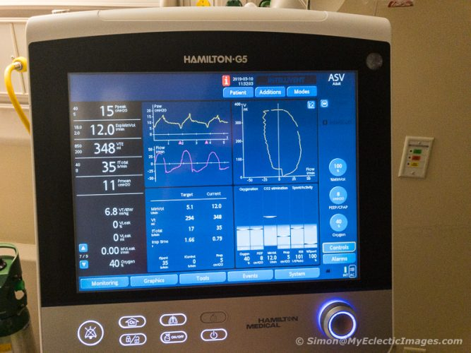 Part of the Array of Life Support Equipment Used During My Stay at UNC (©simon@myeclecticimages.com)