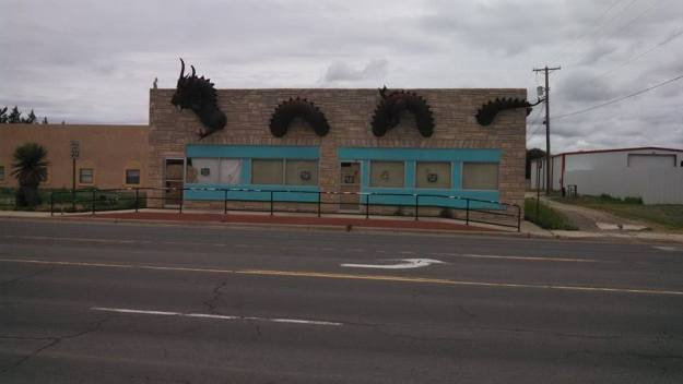 Dragon Installed on Building in Clayton, NM