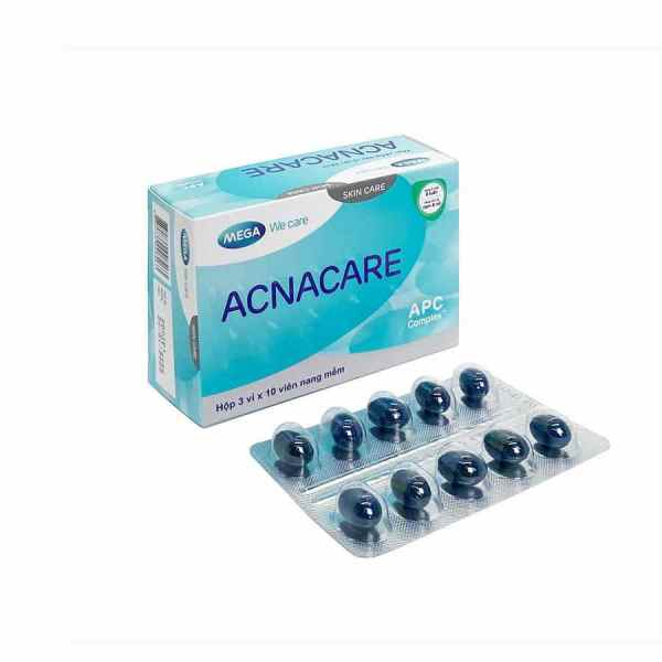 Acnacare Mega We Care – Helps prevent and maintain the treatment of acne – 30 capsules