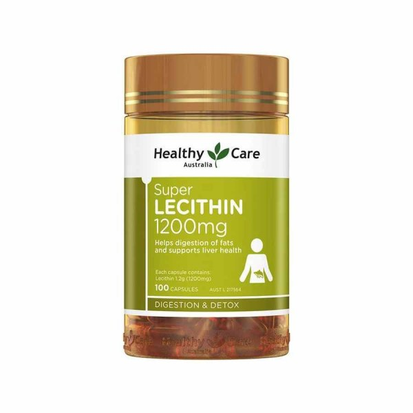 Healthy Care Super Lecithin 1200, 100 capsules 1 box