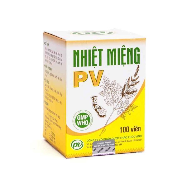 Nhiet Mieng PV 100 capsules