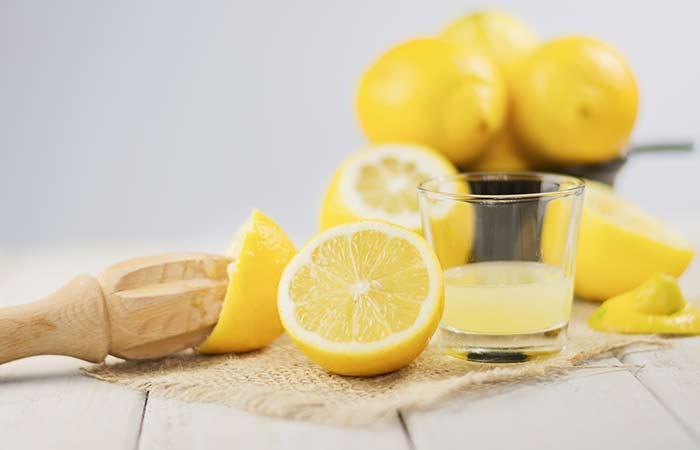 Lemon with sugar blackhead