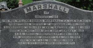WF Marshall Grave Stone