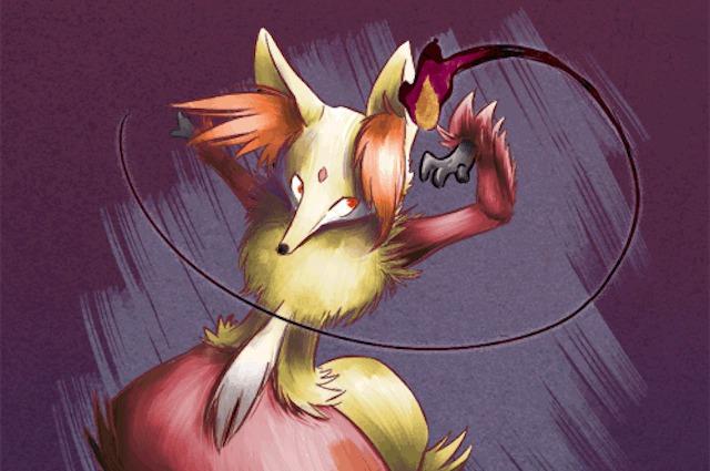 delphox artwork by kin-sei