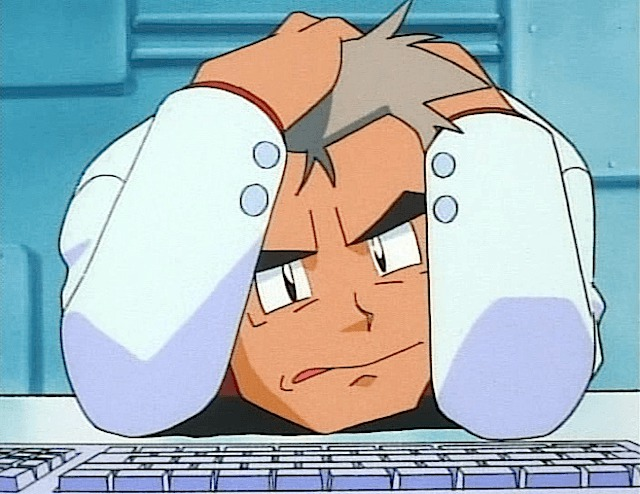 professor oak on tilt upset mad