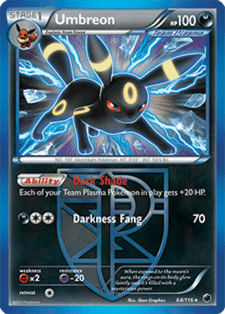 umbreon plasma freeze plf 64 official