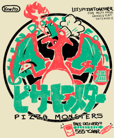 charizard pizza monsters ghostburger