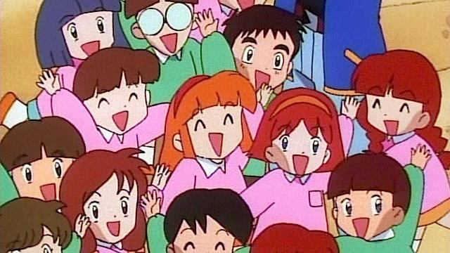 crowd children happy
