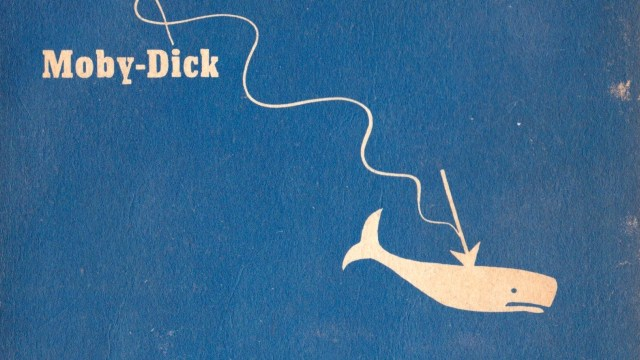moby dick book cover old leveled