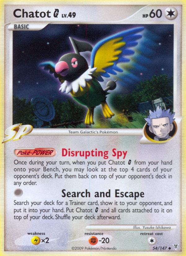 Chatot G Supreme Victors SV 54 Pokemon Card