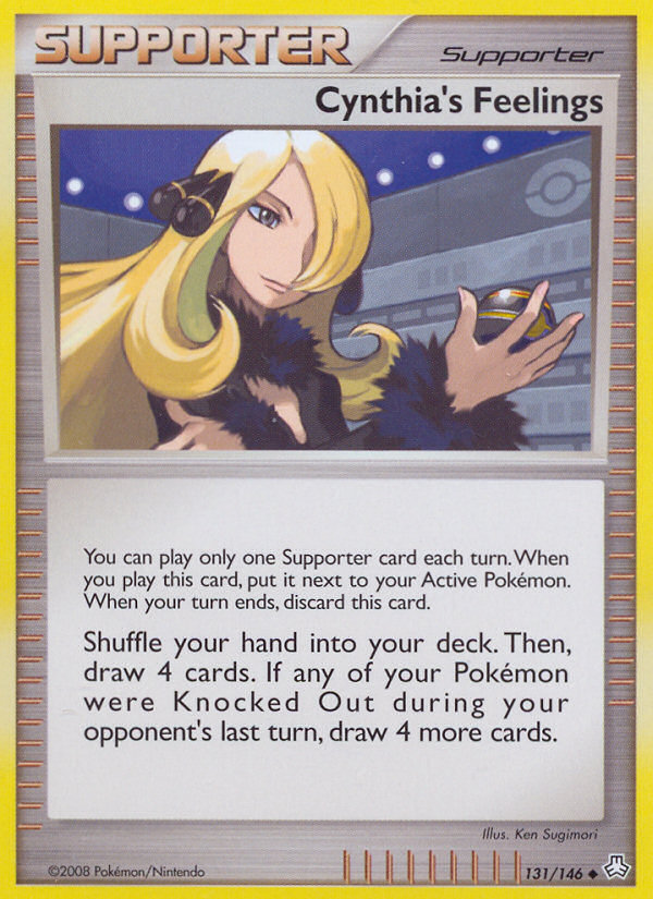Cynthia's Feelings Legends Awakened LA 131 Pokemon Card