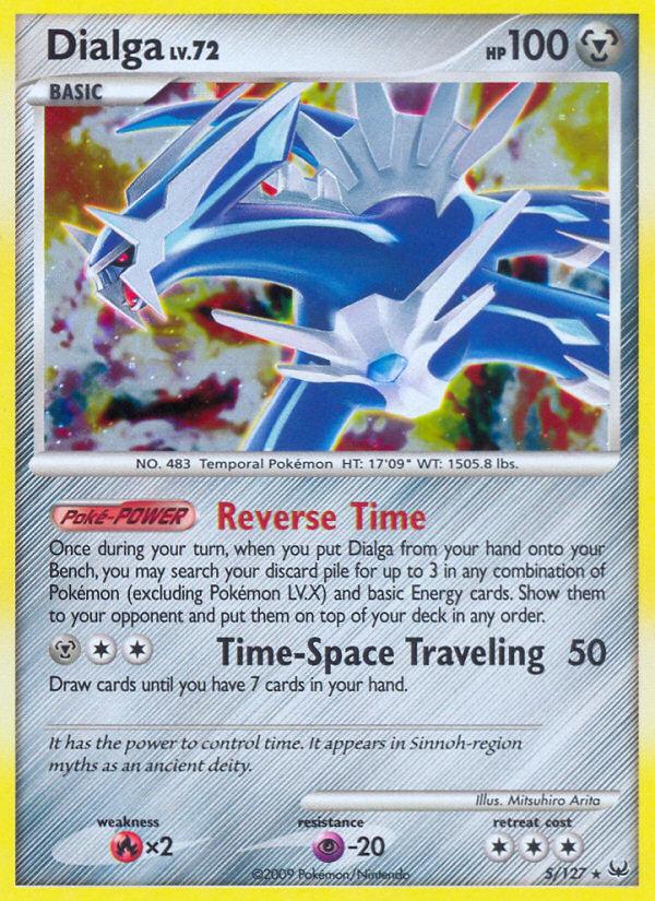 Dialga Platinum PL 5 Pokemon Card
