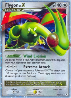 Flygon LV.X Rising Rivals RR 105 Pokemon Card