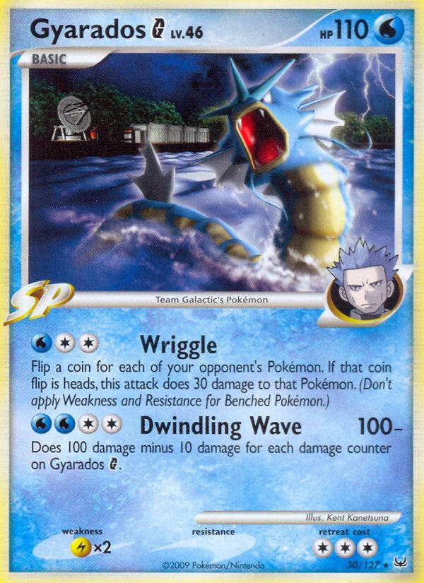 Gyarados G Platinum PL 30 Pokemon Card