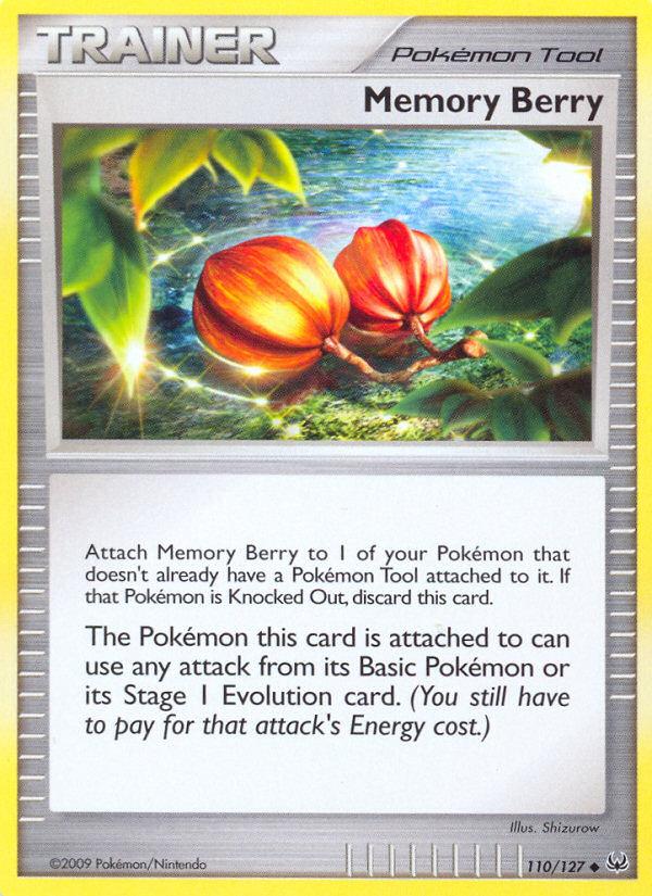 Memory Berry Platinum PL 110 Pokemon Card