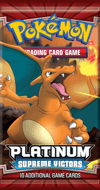 Pokemon Platinum Supreme Victors Charizard Booster Pack