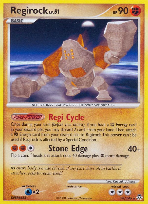 Regirock Legends Awakened LA 38 Pokemon Card