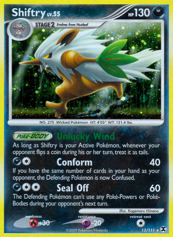 Shiftry Rising Rivals RR 13 Pokemon Card