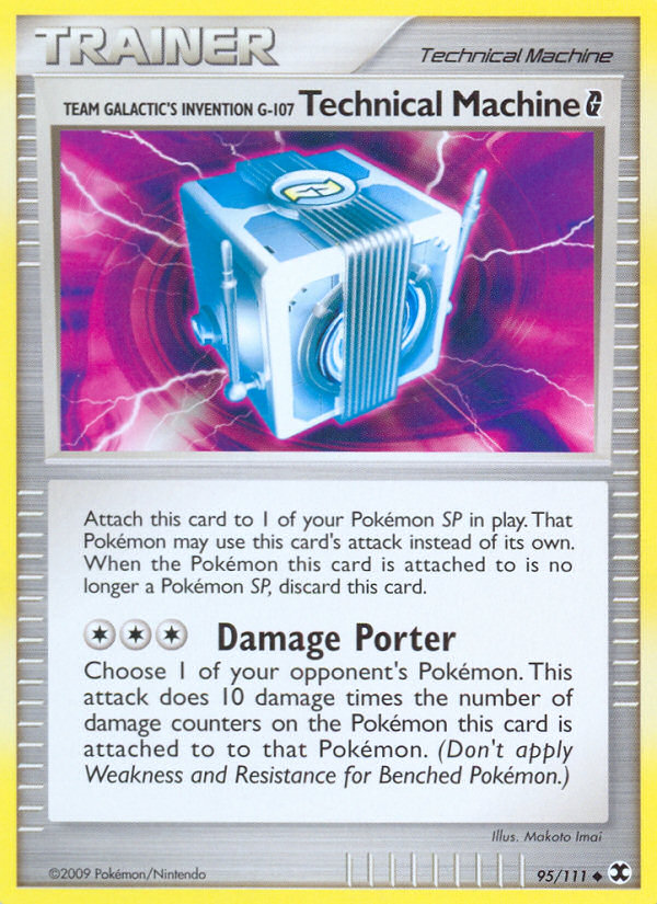 Team Galactic's Invention G-107 Technical Machine G Rising Rivals RR 95 Pokemon Card