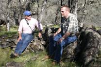 Dave Sorensen and Kaj at Halvorsen's fence