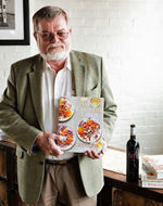 Kaj Ahlmann with Janet Fletcher's book Wine Country Table