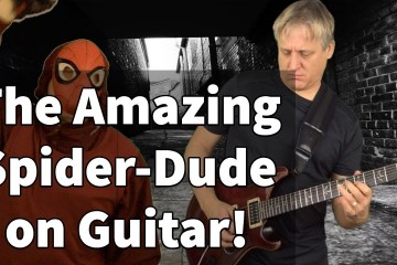 The Amazing Spider Dude on Guitar
