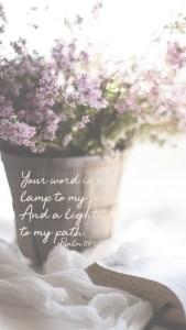 Lockscreen Psalm 119 105