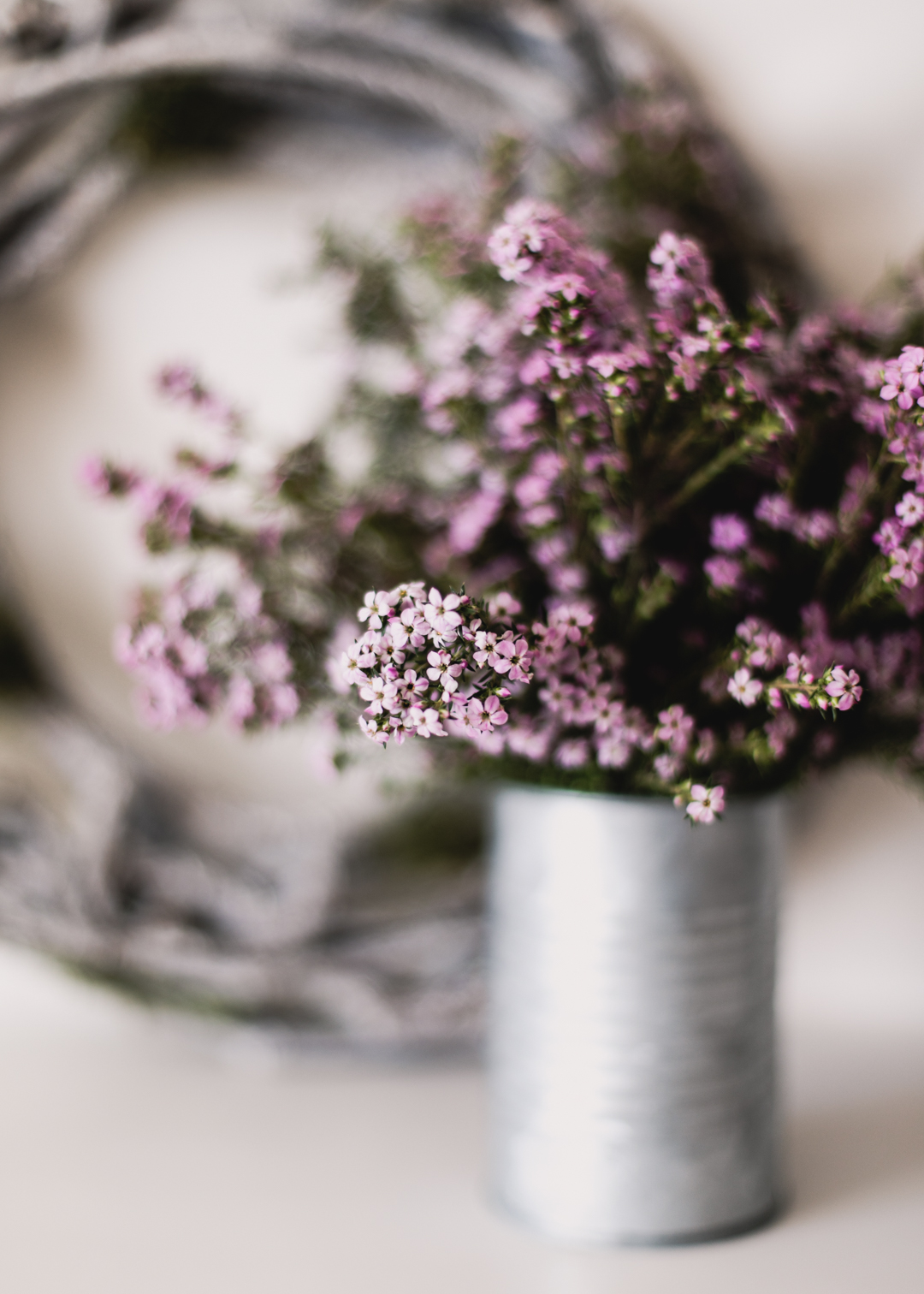 Pink Flowers & Wreath-2