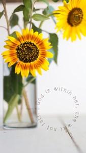 Sunflower Lockscreen Psalm 46 5