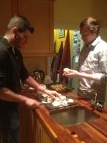 I still can't believe Brad got Bob to help with dinner