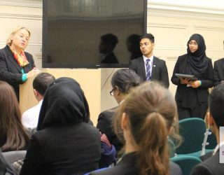 Natalie Bennett Delivers A Speech To Newham Collegiate Sixth Form Centre (The NCS) As Part Of Our Lecture Programme
