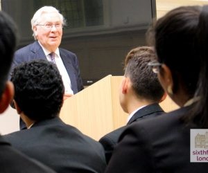 Lord Mervyn King Delivers A Speech To Newham Collegiate Sixth Form Centre (The NCS) Students As Part Of Our Lecture Programme