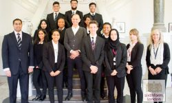 Evan Davis With Newham Collegiate Sixth Form Centre (The NCS) Students And Staff
