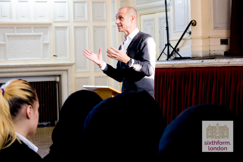 Evan Davis Lecture At Newham Collegiate Sixth Form Centre (The NCS) – Photos
