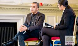 Adil Ray speaks at The NCS in Newham