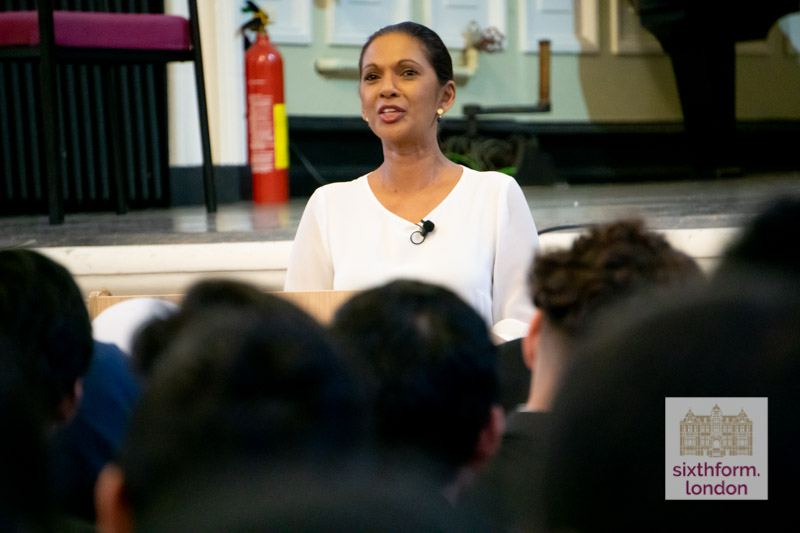 Gina Miller Visits Newham Collegiate Sixth Form Centre (the NCS)