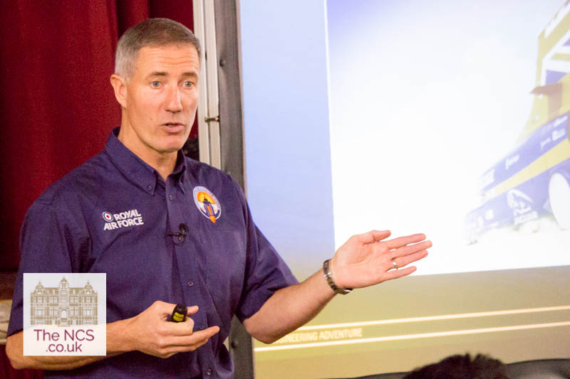 Andy Green Meets Students To Discuss Bloodhound SSC And The Engineering Of Land Speed Records – In Video