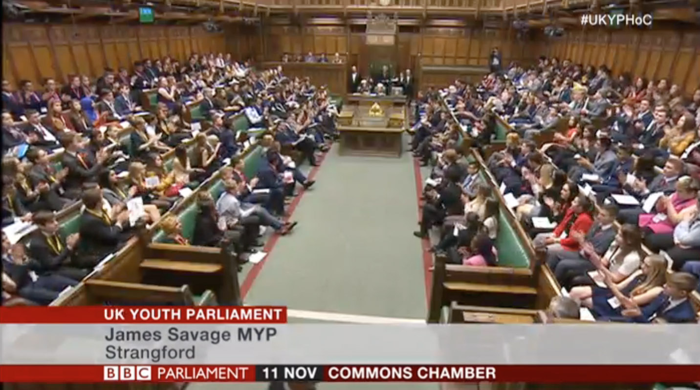 Newham Collegiate Sixth Form Centre (The NCS) Student Saadia Delivers A Speech At The House Of Commons Dispatch Box