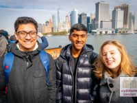 Exploring New York on our Ivy League Preparation Trip - on the Staten Island Ferry seeing Manhattan from water