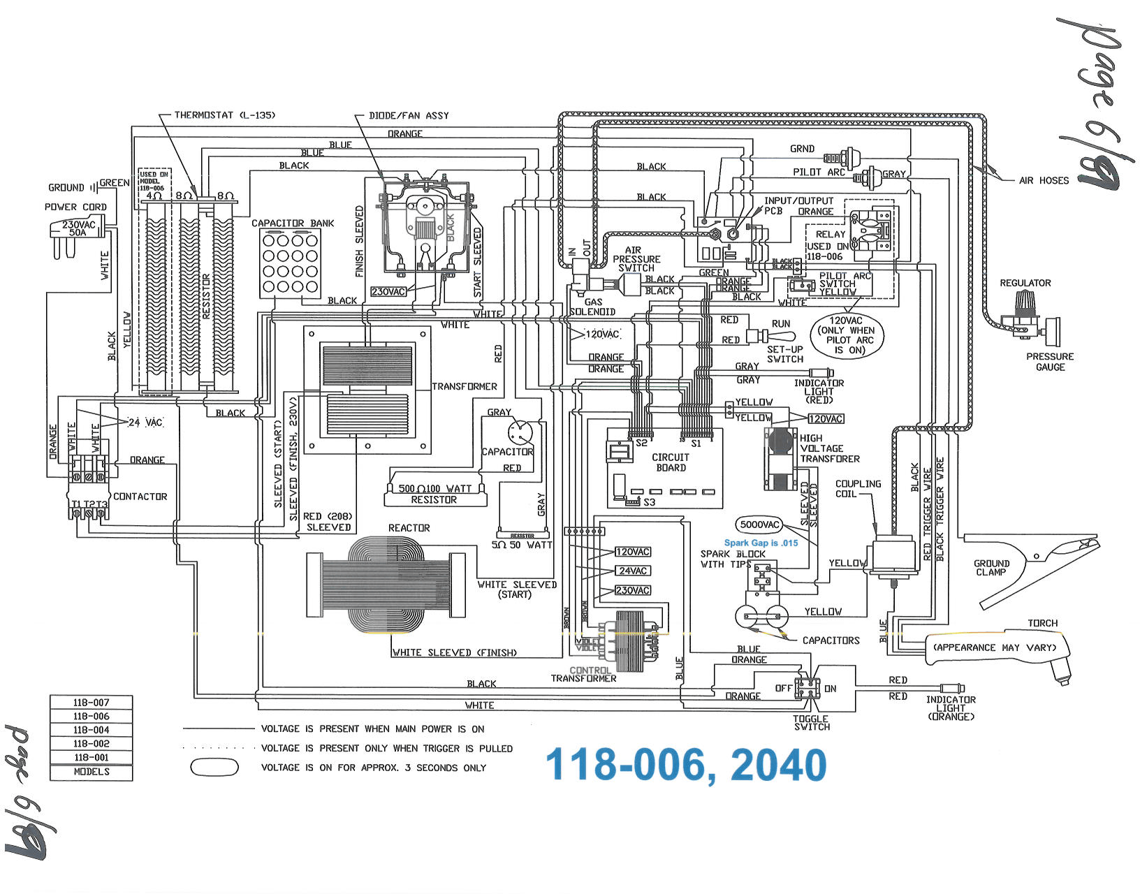 Cut 50 Plasma Cutter Circuit Diagram