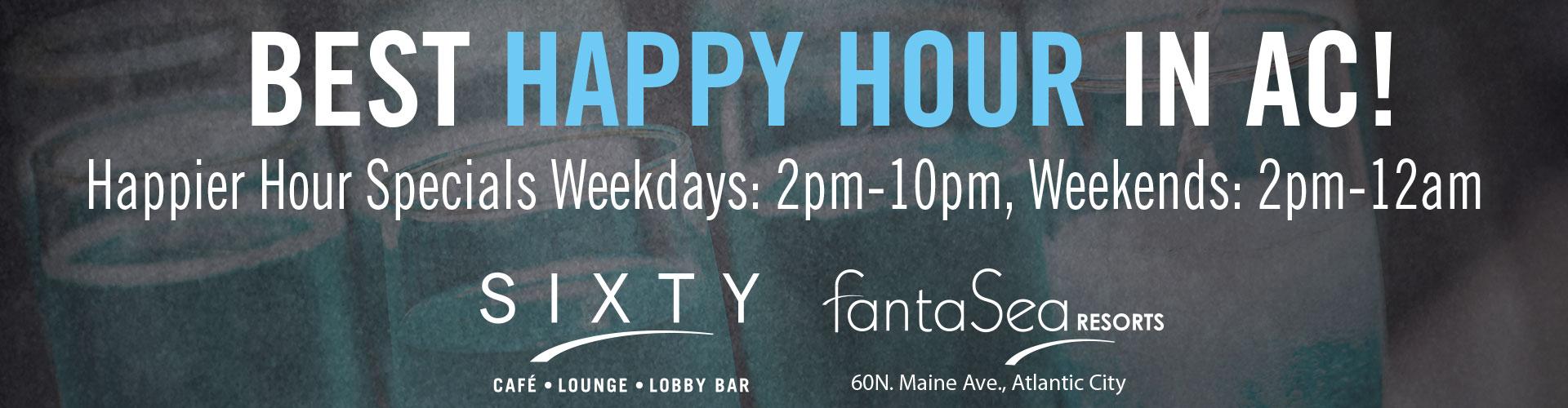 Drinks Menu - Sixty Cafe & Bar - FantaSea Resorts - Atlantic City, NJ