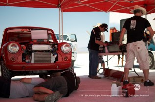 Fixing the under tray. Photo by Mike Wilson ©2012. All Rights Reserved.
