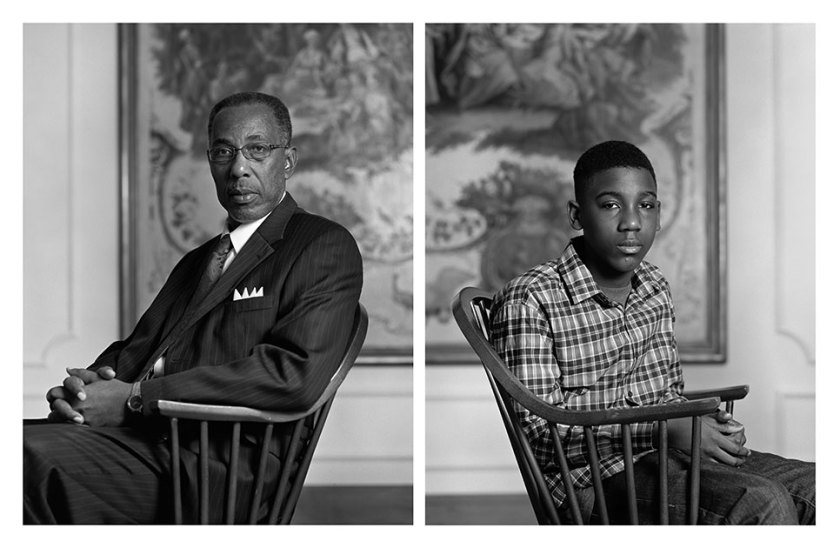 Don Sledge and Moses Austin, inkjet prints, 2012. © Dawoud Bey