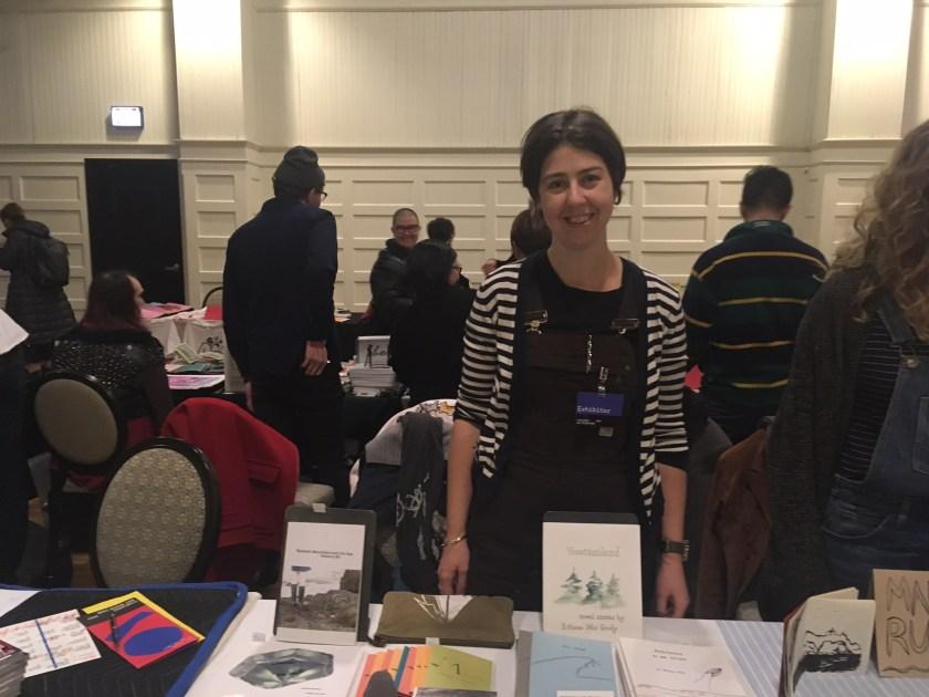 Rebecca Mir Grady at the Chicago Art Book Fair.