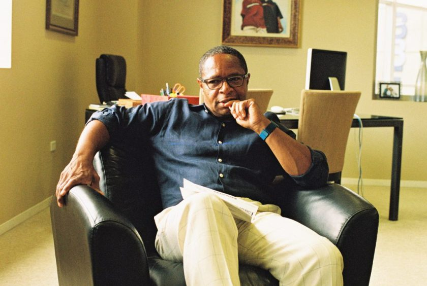 Rufus Williams sitting in his office at BBF Family Services. Photo by Eric K. Williams.